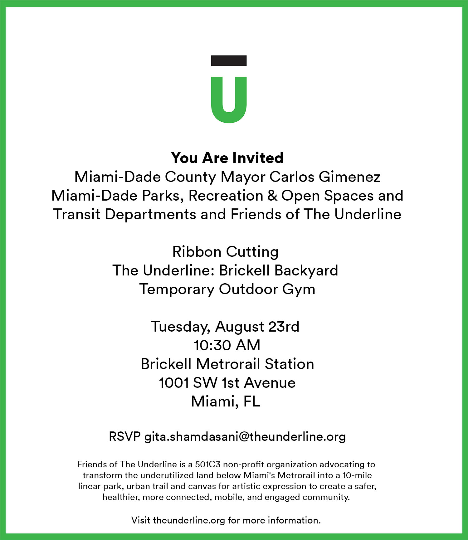 Underline Ribbon Cutting 082316