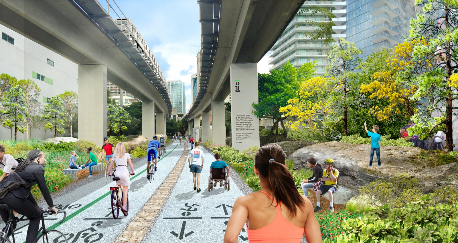 Miami's 10-mile linear park and urban trail — The Underline