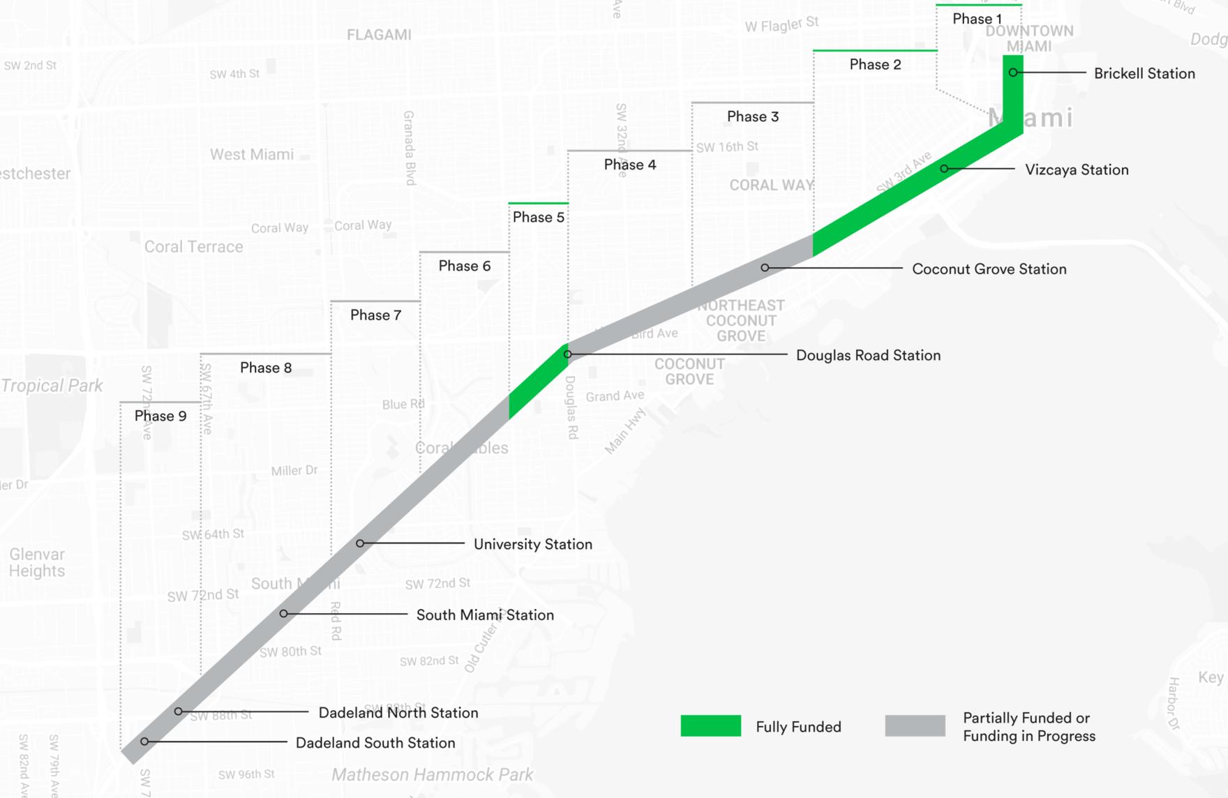 Miami Subway Map Pdf.Miami S 10 Mile Linear Park And Urban Trail The Underline
